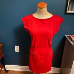 Micheal By Micheal Kors Red Dress Size 2
